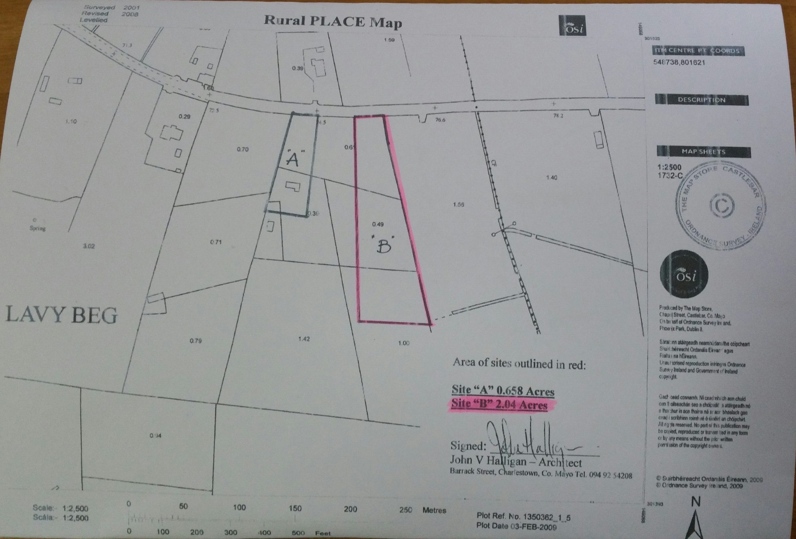 2.04 Acres Site at Laveybeg, Charlestown